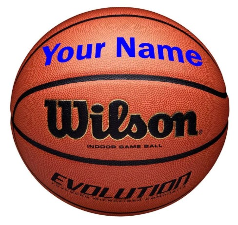 Wilson Customized Personalized Evolution Basketball Indoor Game Ball