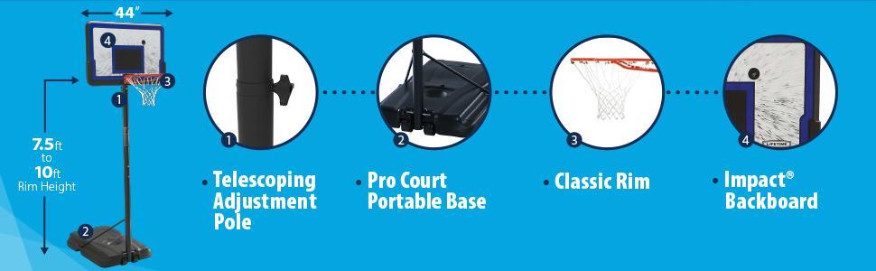 12 Best portable basketball hoop under $200 $300 & $500 4