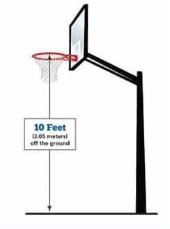 basketball hoop height