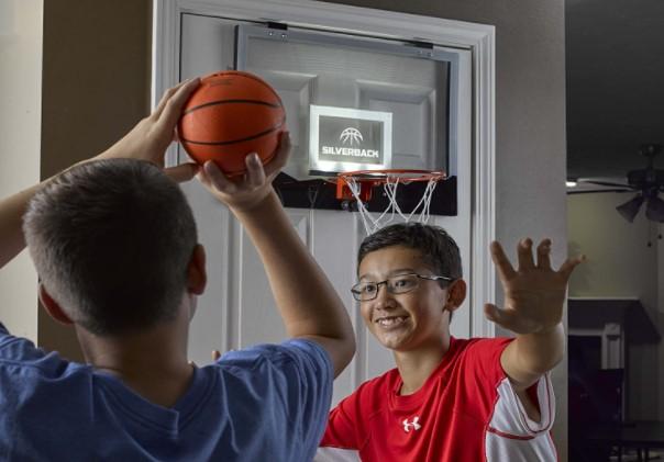 Silverback 23 inches LED mini basketball hoop