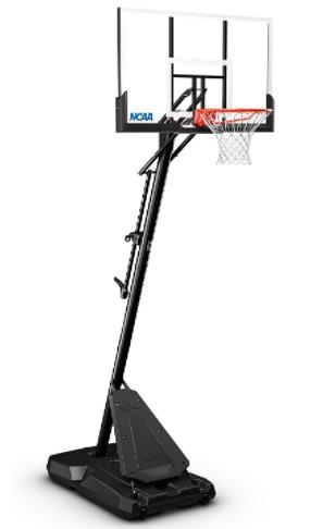 "Screenshot Spalding NCAA Exactaheight 50"" Performance Acrylic Portable Basketball Hoop_4"